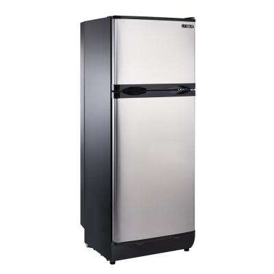 8 cu. ft. Propane Top Freezer Refrigerator Dual Power in Stainless Steel (Propane/110-Volt)