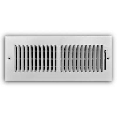 12 in. x 4 in. 2-Way Wall/Ceiling Register