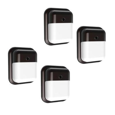 Slim-Profile 75-Watt Equivalent Integrated LED Wall Pack with 1000 Lumens, Dusk to Dawn Outdoor Light (4-Pack)