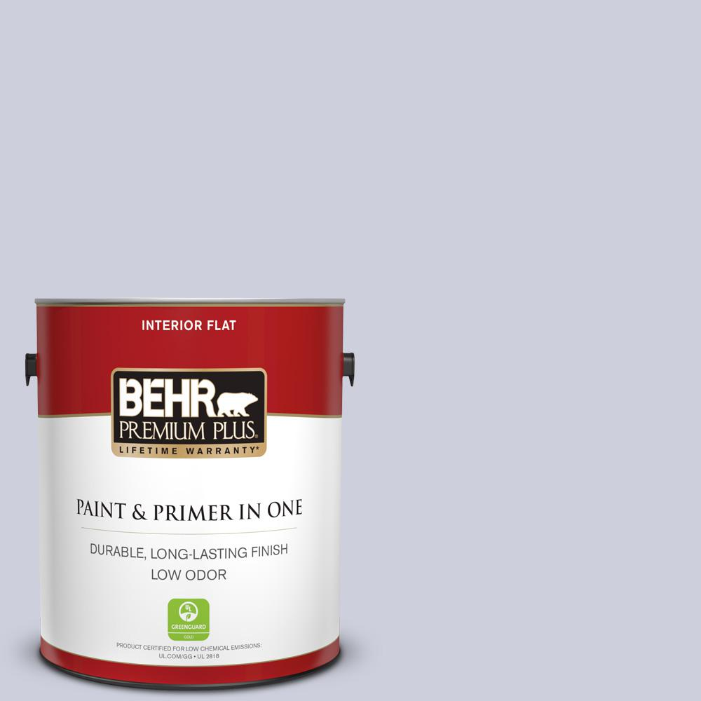 Behr Premium Plus 1 Gal 640e 3 Simplicity Flat Low Odor Interior Paint And Primer In One 105001 The Home Depot