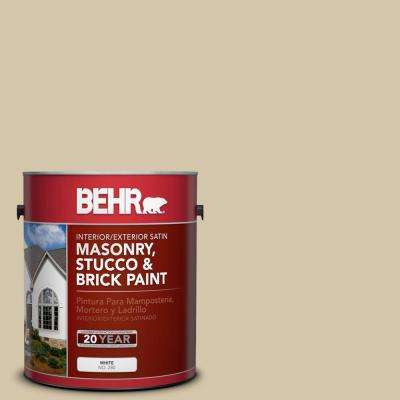 1 gal. #YL-W11 Khaki Shade Satin Interior/Exterior Masonry, Stucco and Brick Paint