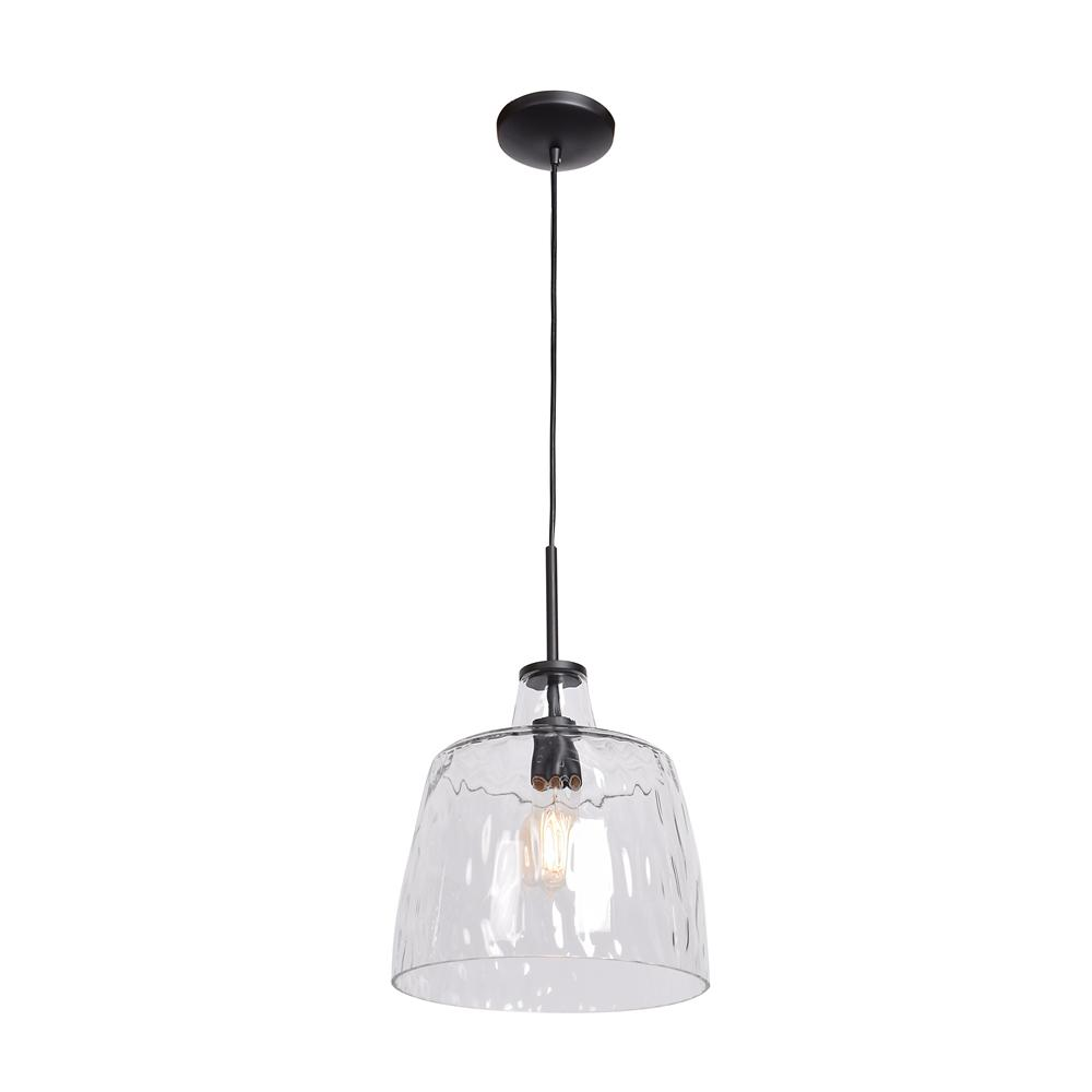 Access Lighting Simplicite 11 In 1 Light Black Pendant With Clear Gl Shade