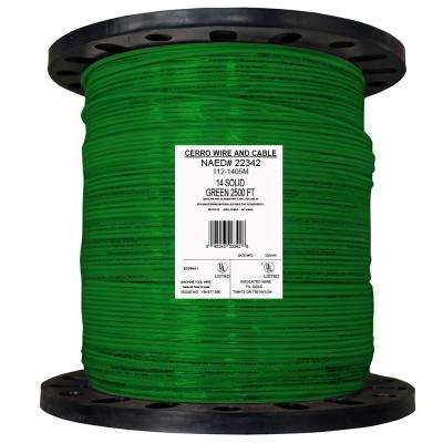 2500 ft. 14 Green Solid THHN Wire