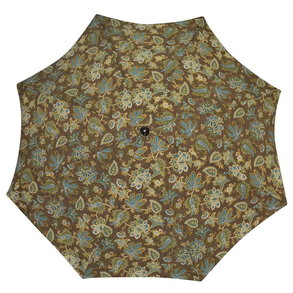 Plantation Patterns 7-1/2 ft. Patio Umbrella in Lakeside Floral-DISCONTINUED
