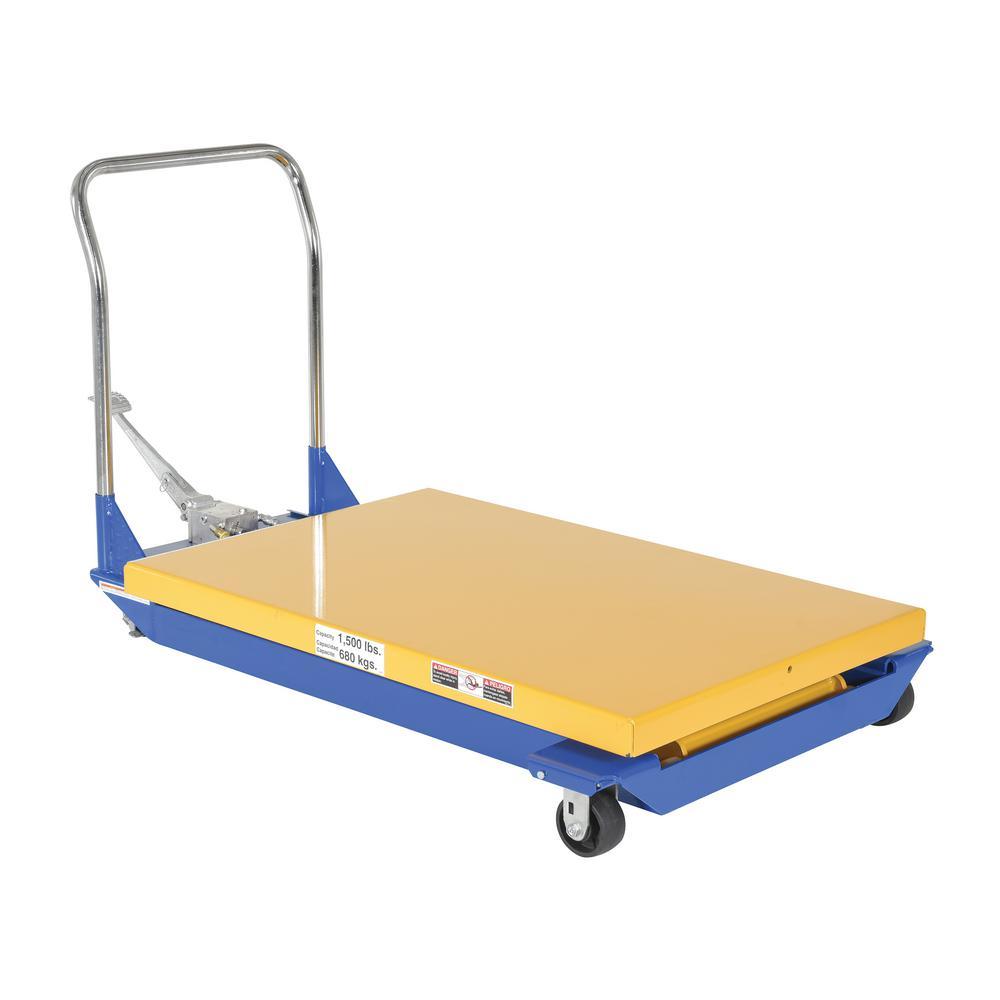 1,500 lb. Capacity 36 x 40 in. Manual Powered Scissor Cart