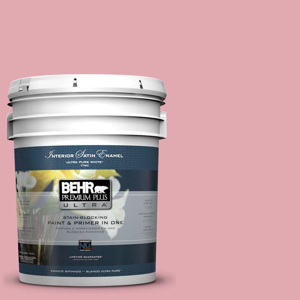 5 gal. #130C-3 Raspberry Lemonade Satin Enamel Interior Paint and Primer