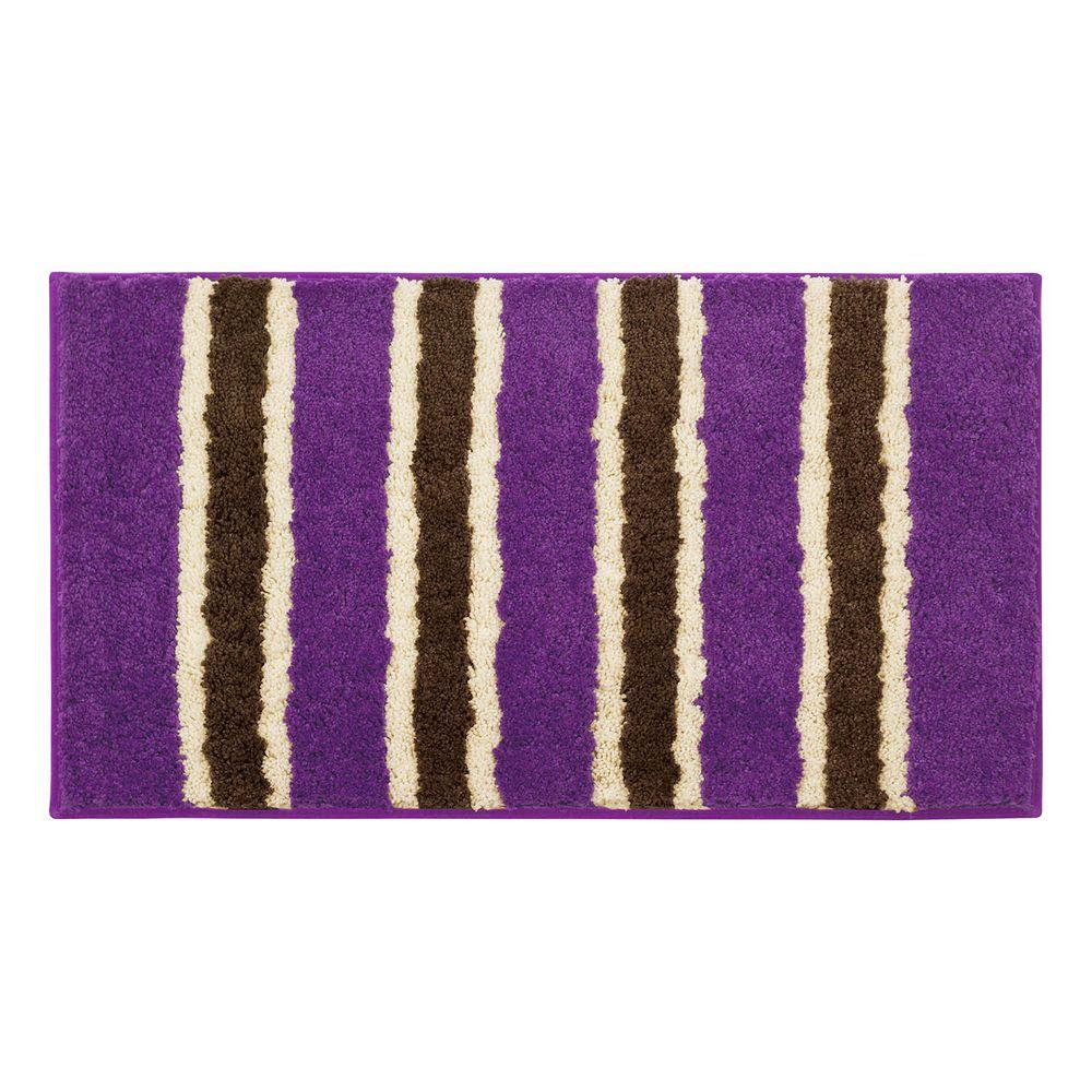 Ace Purple 18 in. x 30 in. Bath Rug