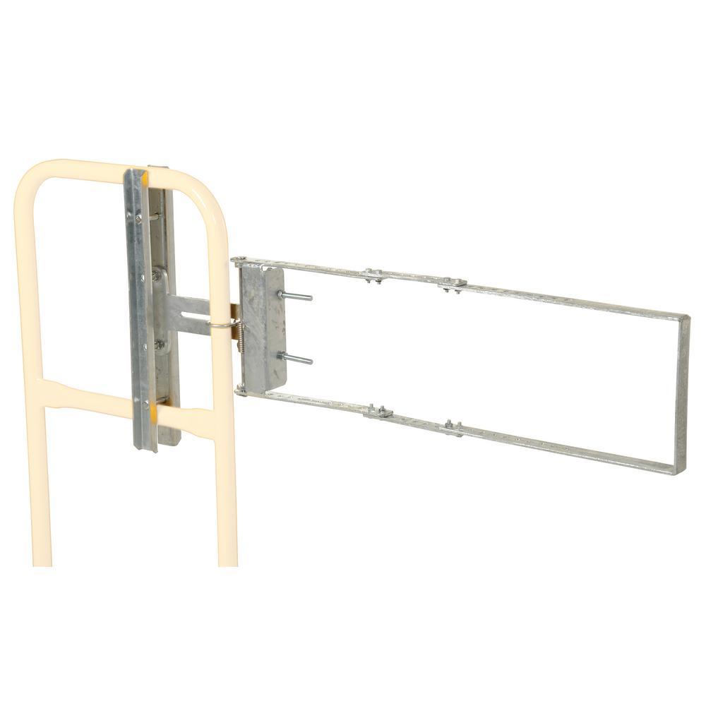 Vestil 2 ft. x  4 ft. Galvanized Silver Steel Safety Railing Self Closing Fence Gate