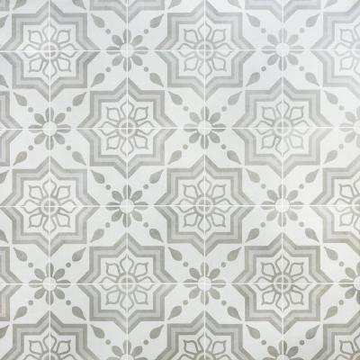 Sintra Silver Sky Encaustic 9 in. x 9 in. x 10mm Mate Porcelain Floor and Wall Tile (20 pieces / 10.65 sq. ft. / box)