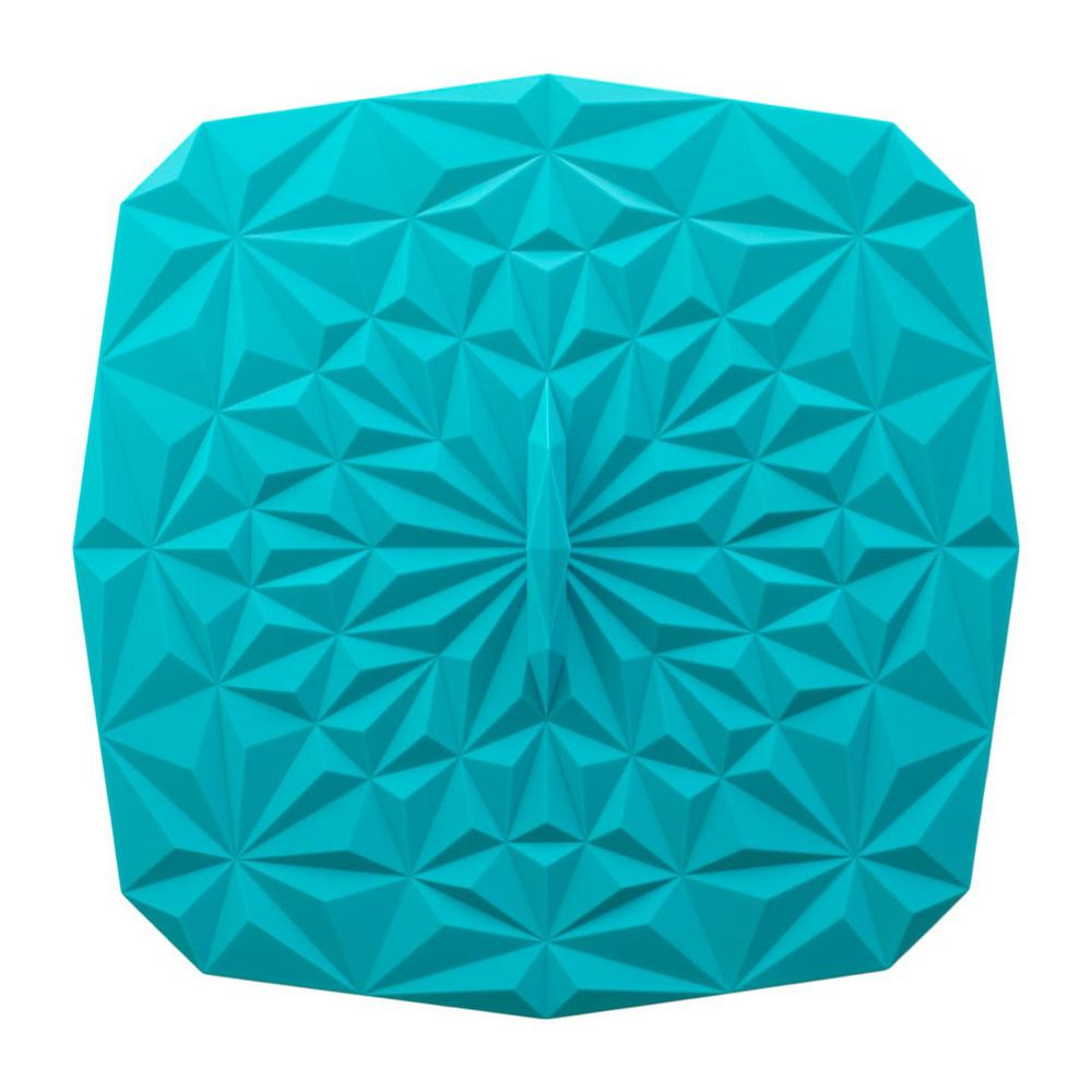 Rectangular Suction 9x9 Silicone Lid in Teal