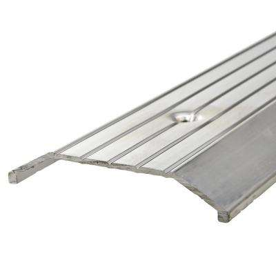 E/O 3 in. x 36 in. Silver Fluted Top Saddle Threshold