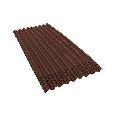 6 ft. 7 in. x 3 ft. Asphalt Corrugated Roof Panel in Brown (5-Pack)