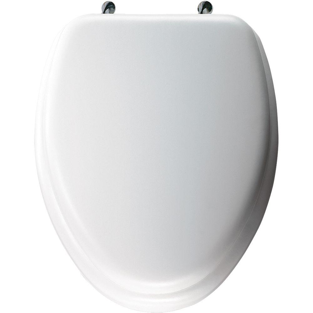 Elongated Closed Front Toilet Seat in White. Elongated   Toilet Seats   Toilets  Toilet Seats   Bidets   The
