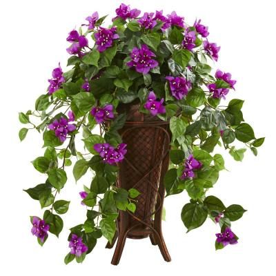 Indoor Bougainvillea Artificial Plant in Stand Planter