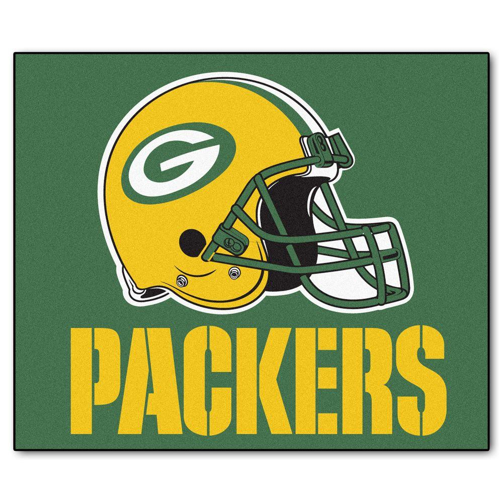 c434cbc7e74 FANMATS Green Bay Packers 5 ft. x 6 ft. Tailgater Rug-5758 - The ...