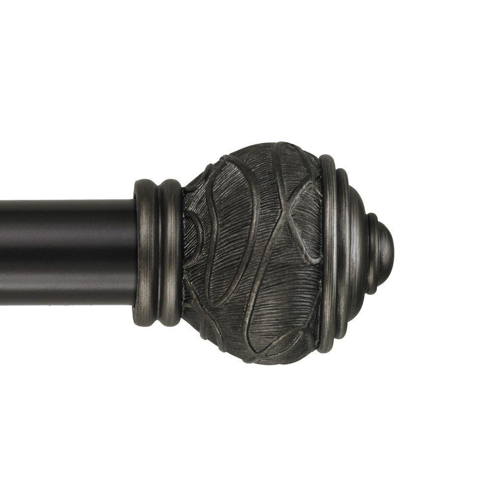 Mercado 6 ft. Non-Telescoping Curtain Rod in Oil Rubbed Bronze