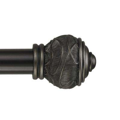 48 - 84 in. Telescoping Curtain Rod Kit in Oil Rubbed Bronze with Mercado Finials
