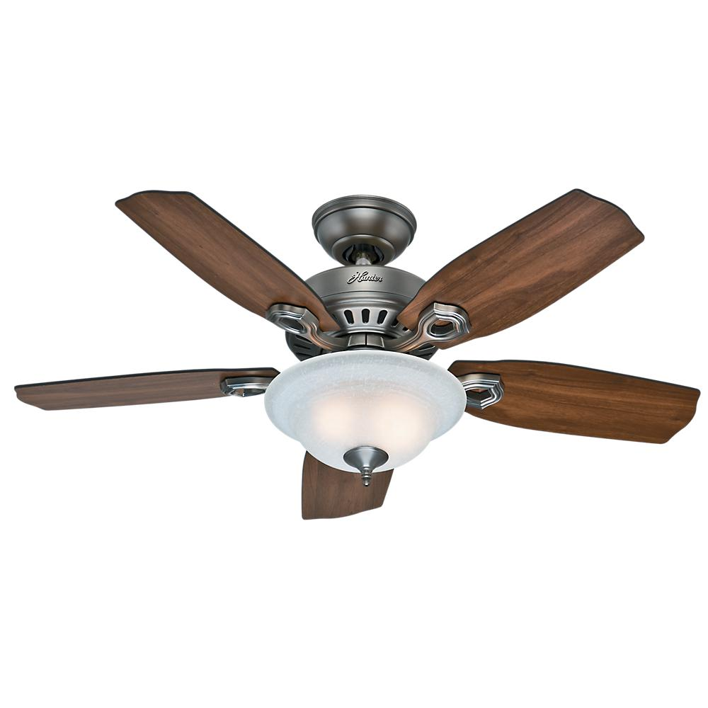 Ceiling Fans Product : Hunter gunnar in indoor outdoor matte silver ceiling