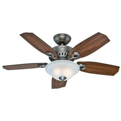Cedarville 44 in. Indoor Antique Pewter Ceiling Fan with Light Kit