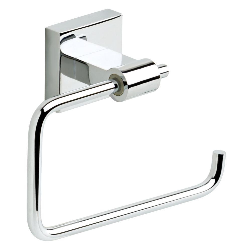 franklin brass maxted single post toilet paper holder in chrome max50 pc the home depot. Black Bedroom Furniture Sets. Home Design Ideas