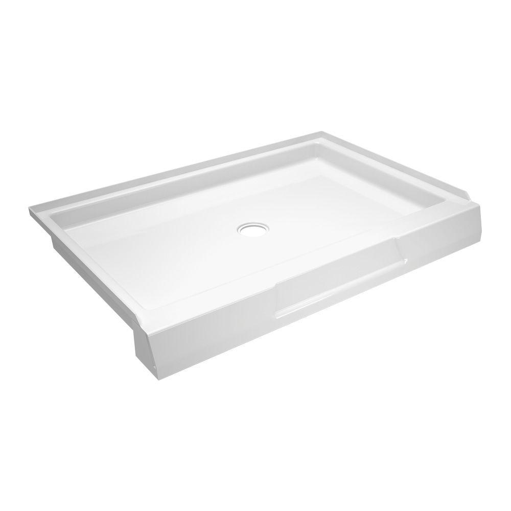null Firenze 34 in. x 48 in. Single Threshold Shower Base in White