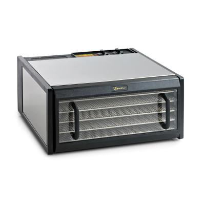 5-Tray Stainless Steel Clear Door Dehydrator with 26-Hour Timer