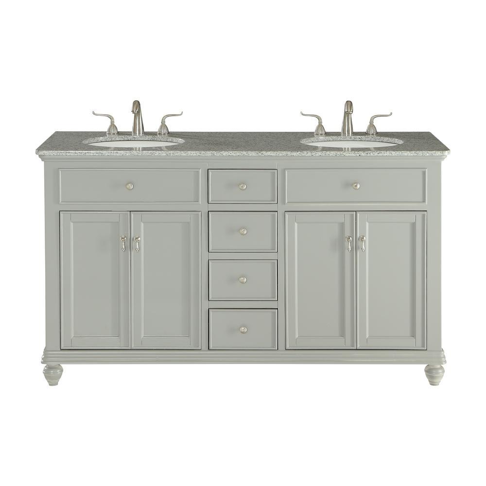Unbranded Somerton 60 in. Double Bathroom Vanity w/ 4 ...
