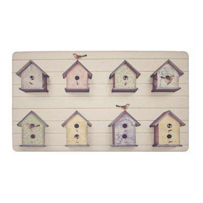 Birdhouse Multi 20 in. x 32 in. PVC Anti-Fatigue Comfort Kitchen Mat