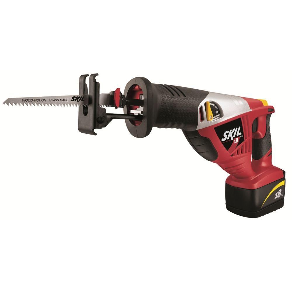 Skil Factory Reconditioned Ni-Cad Cordless Electric Reciprocating Saw Kit with Battery