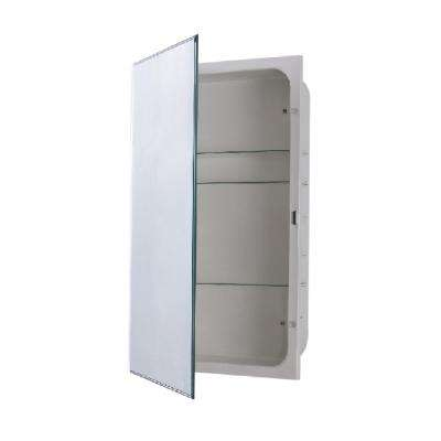 Sumas 16 in. x 26 in. Frameless Recessed or Surface Mount Swing Door Beveled Mirror Medicine Cabinet