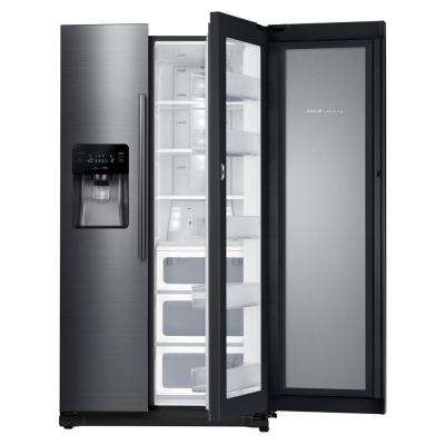 24.7 cu. ft. Side by Side Refrigerator in Black Stainless Steel