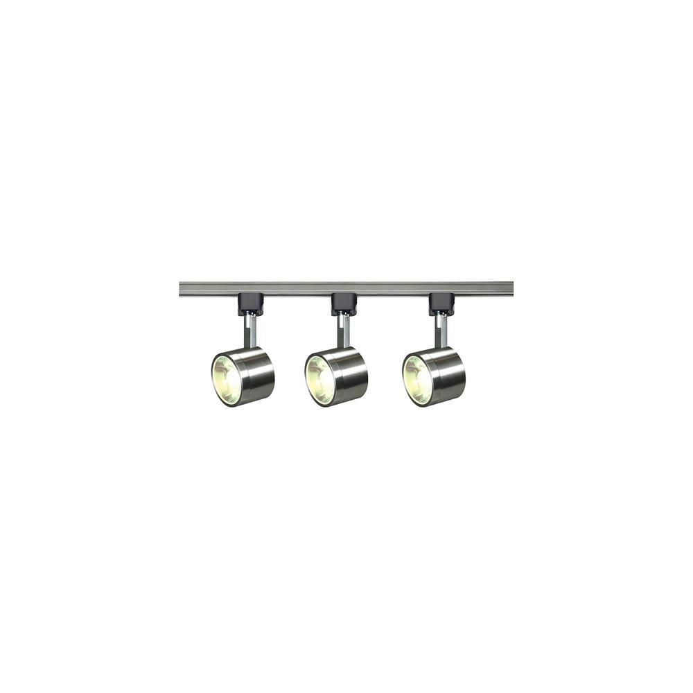 Led Track Lighting Brushed Nickel: Filament Design 4 Ft. Brushed Nickel Integrated LED Track