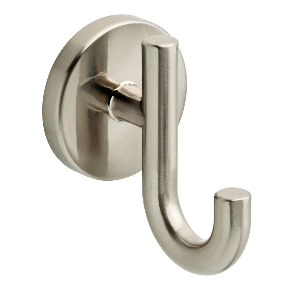 towel hooks. Delta Lyndall Single Towel Hook In SpotShield Brushed Nickel Hooks H