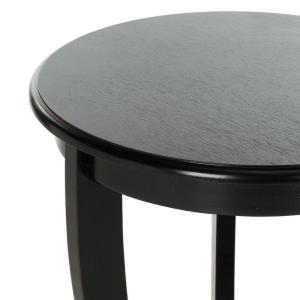 Internet #204507107. +2. Safavieh Mary Distressed Black Side Table