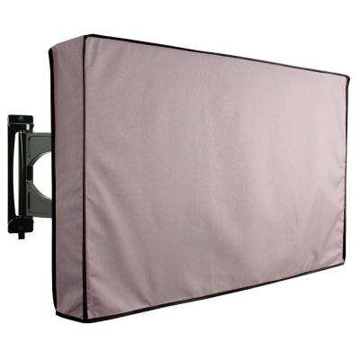 55 in. to 58 in. Grey Outdoor TV Universal Weatherproof Protector Cover