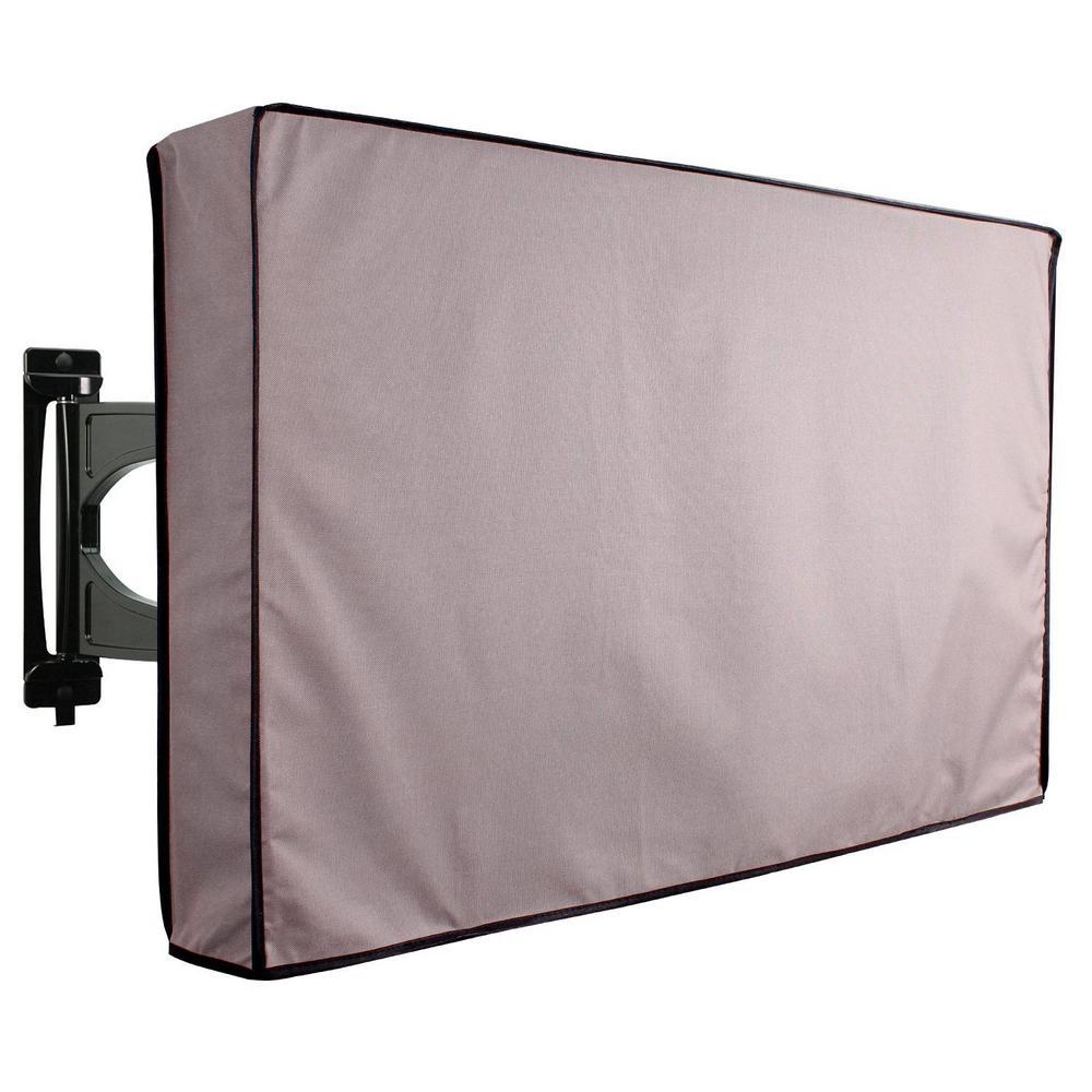 65 in. to 70 in. Grey Outdoor TV Universal Weatherproof Protector Cover