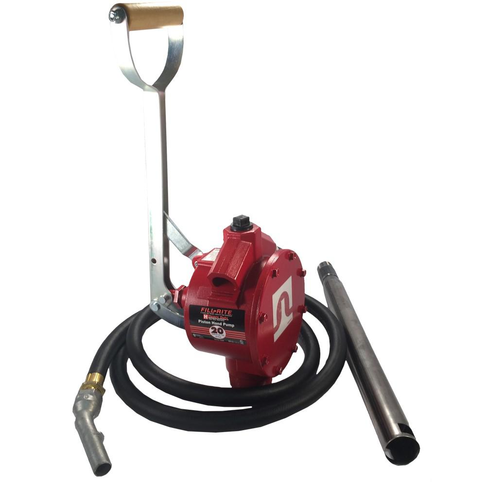 Fuel Transfer Pump, Piston Pump with 8 ft. Hose and Fittings