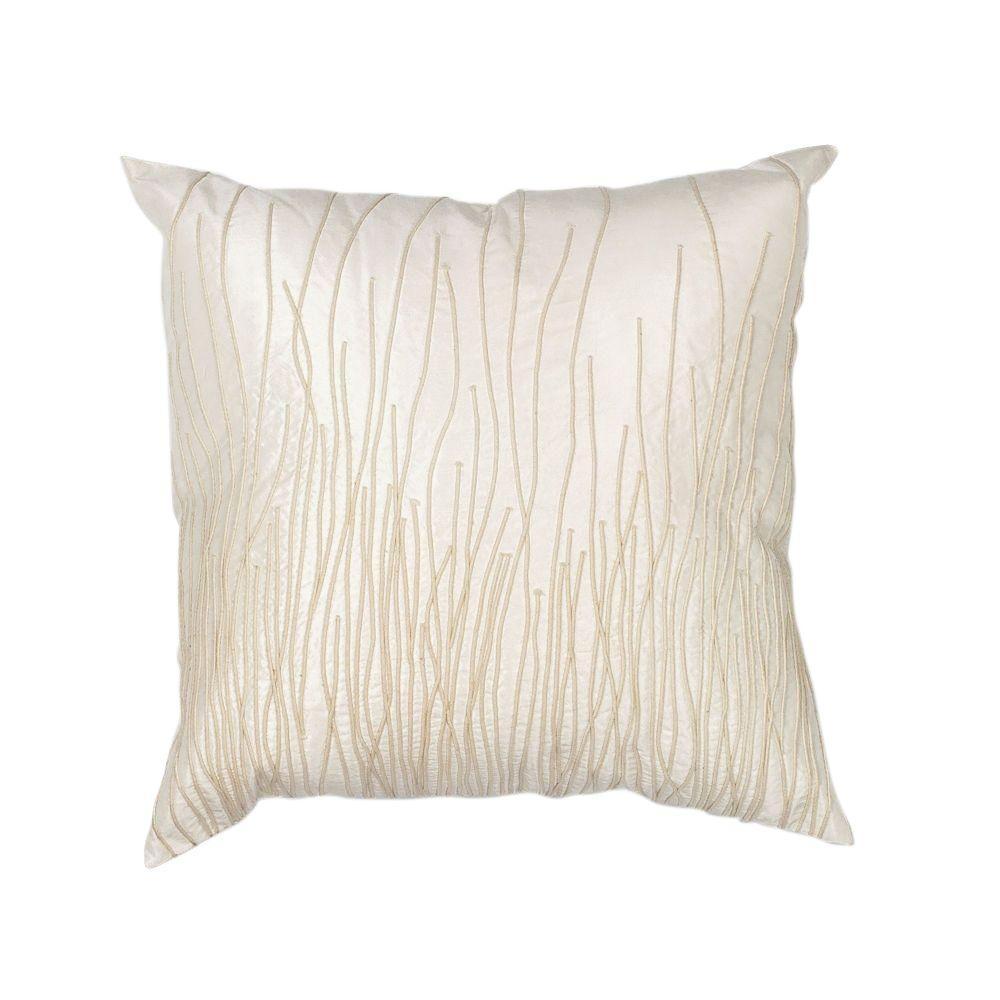 Modern Weave Ivory Decorative Pillow