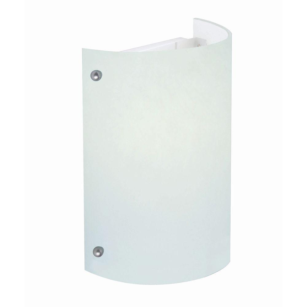 1-Light White Sconce with Frost Glass