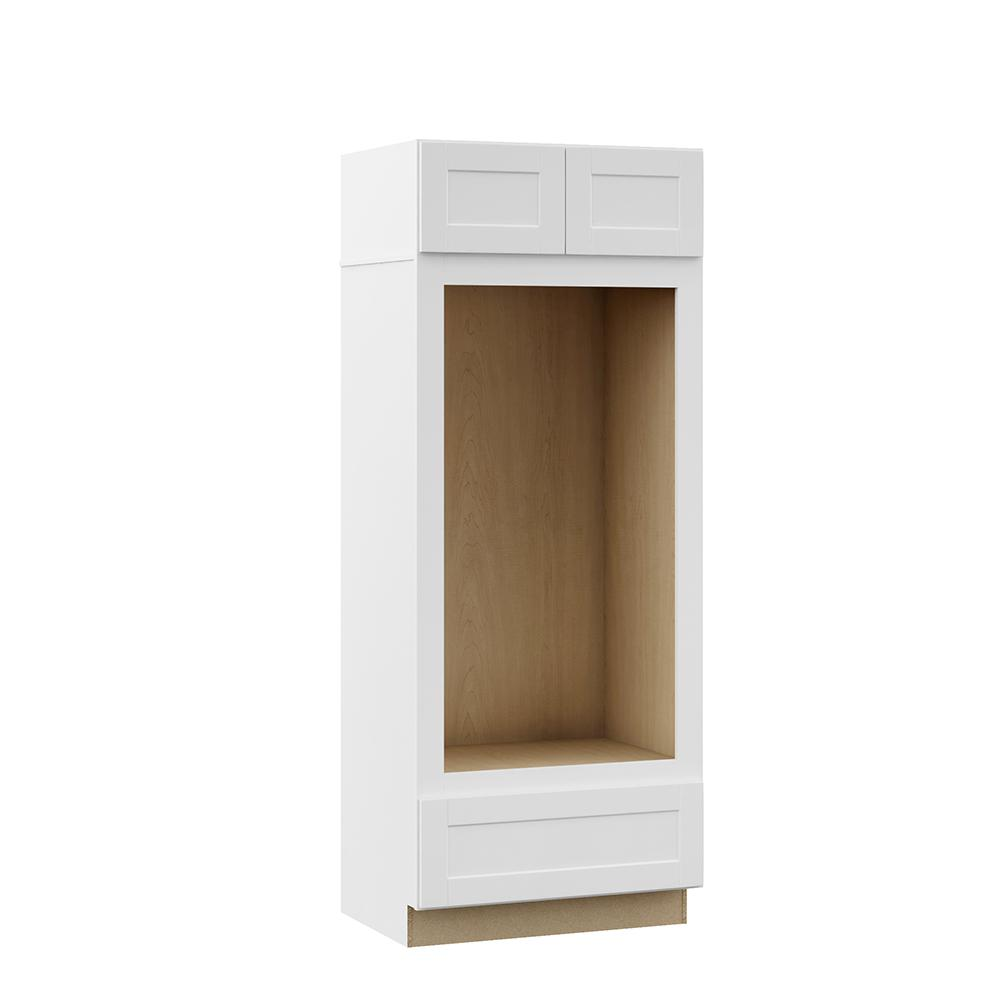 Hampton Bay Shaker Assembled 33 x 84 x 24 in. Pantry/Utility Double ...