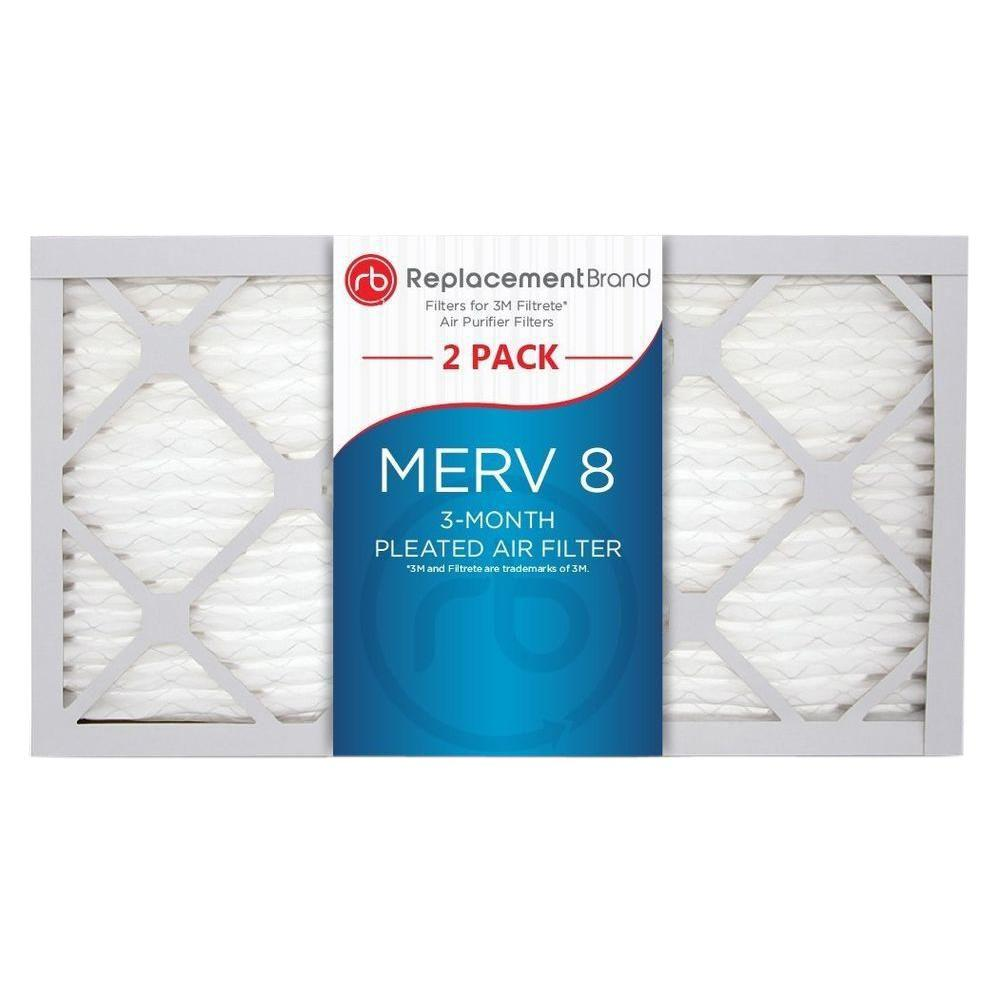 5 In X 13 1 MERV 8 Air Purifier Replacement Filter 2 Pack RB RAP 010413