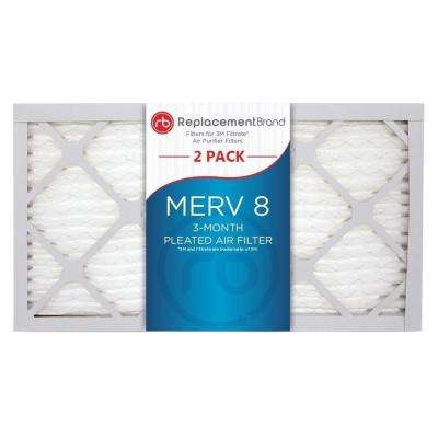 5 in. x 13 in. x 1 in. MERV 8 Air Purifier Replacement Filter (2-Pack)