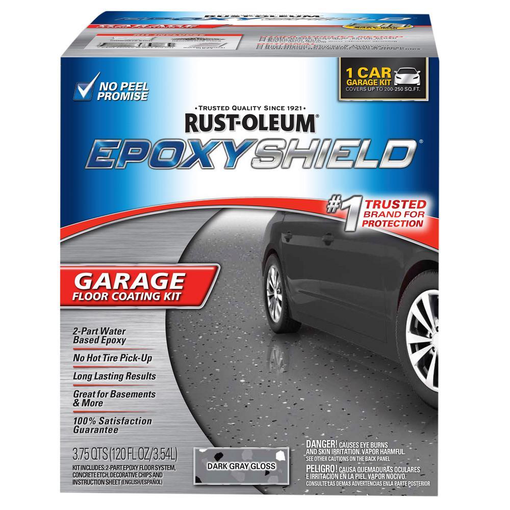 120 oz. Dark Gray Gloss One Car Garage Floor Kit (2-Pack)