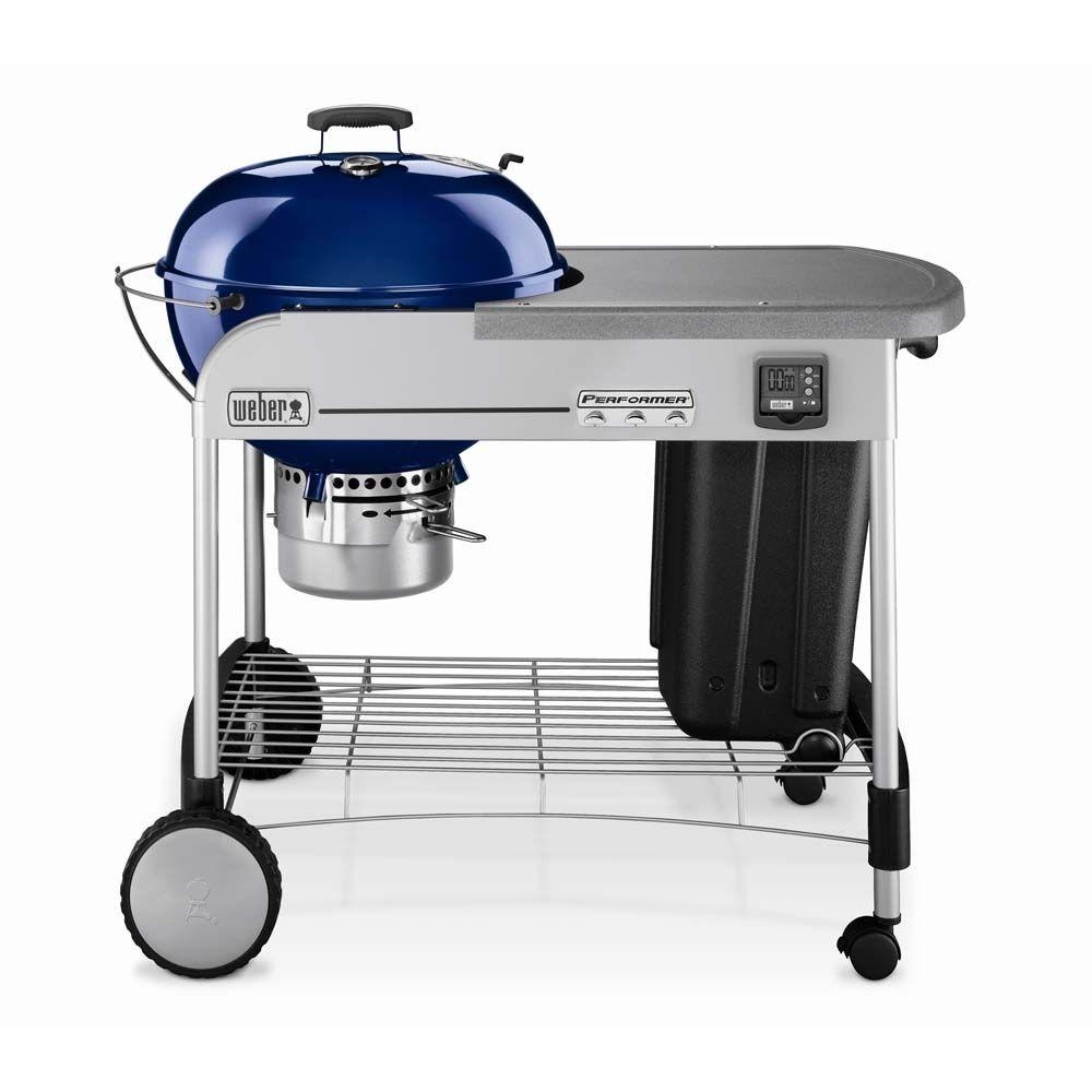 Weber Performer Gold 22-1/2 in. Charcoal Grill in Dark Blue