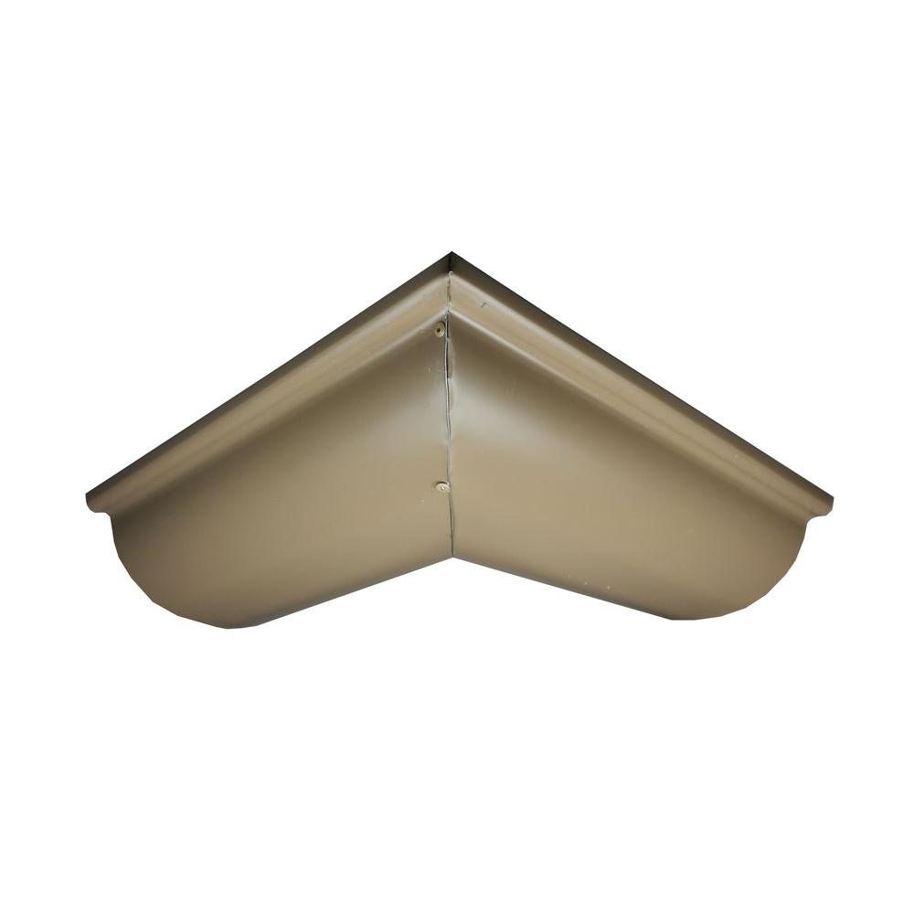 6 in. Half Round Cocoa Brown Aluminum Outside Miter