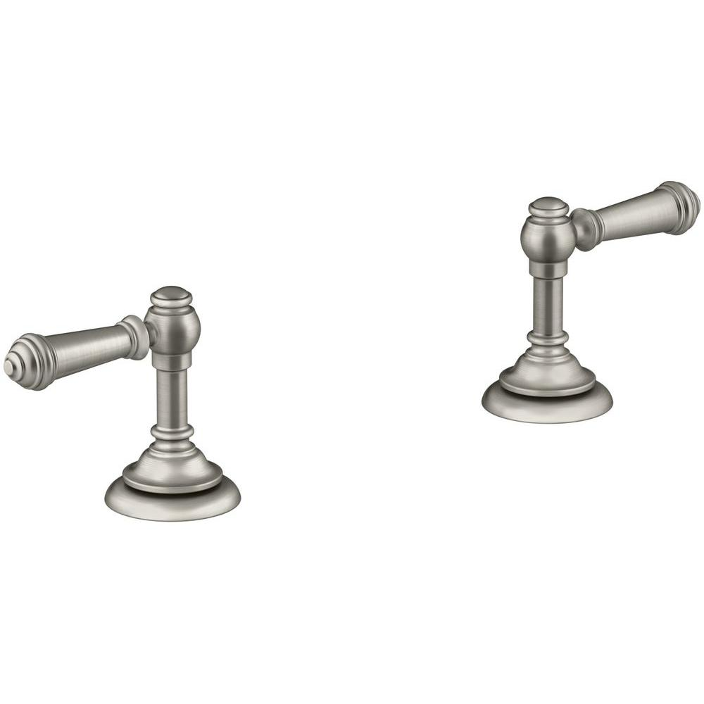 Kohler Artifacts Bathroom Sink Lever Handles in Vibrant Brushed ...