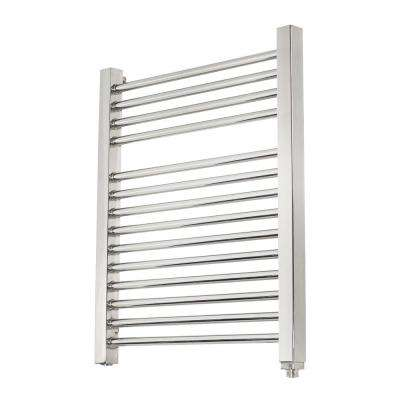 14-Bar Wall Mounted Electric Towel Warmer with Digital Timer in Stainless Steel Polished