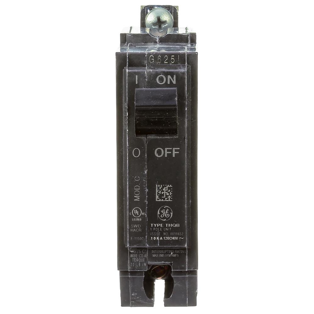 Ge 40 Amp Single Pole Bolt On Breaker Thqb1140 The Home Depot Basic Wiring From