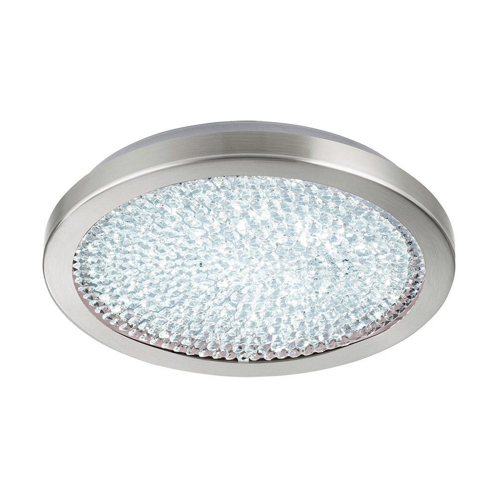 Arezzo 2 100-Watt Chrome Integrated LED Semi-Flush Mount
