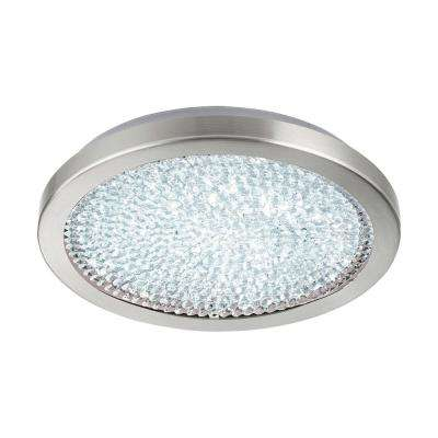 Arezzo 2 100-Watt Chrome Integrated LED Semi-Flushmount